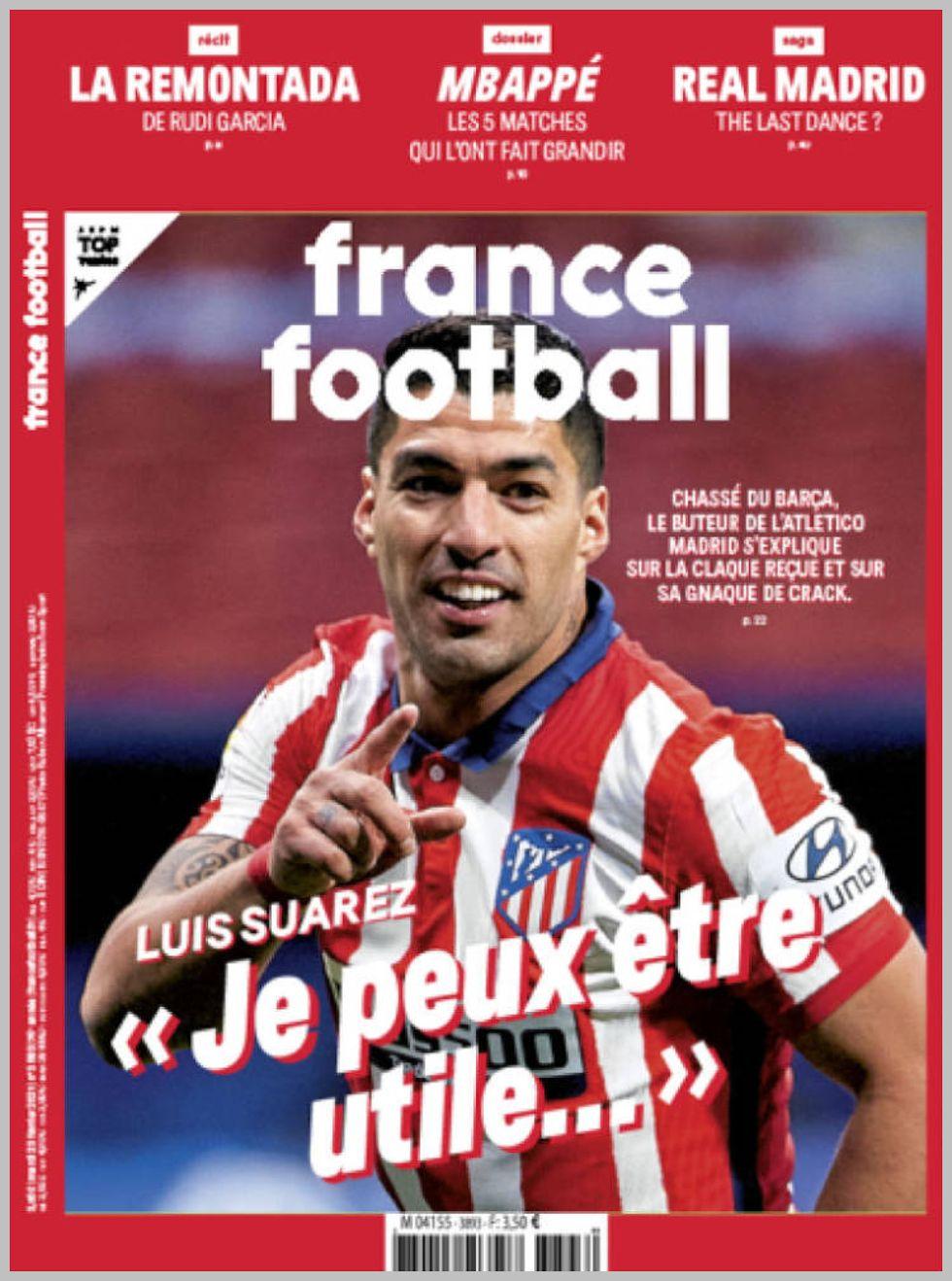 Εξώφυλλο εφημερίδας με δυνατότητα κλικ FRANCE FOOTBALL